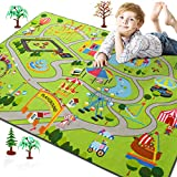 Rostyle Kids Play Rugs for Playroom, Toddler Kids Carpet with Non-Slip Bottom Children's Playground Learning Area Rug, Bedroom Classroom Play Mat Ideal Gift for Boys Girls Children, 3 x 5 Feet