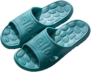 YAXY Creativity Shower Slipper, Quick Non-Slip Durable Slippers, Bathroom House and Pool Sandals, in-Door Slipper for Gym, Plastic Soft Bottom Slippers Sole Open Toe House Deodorant Slippers