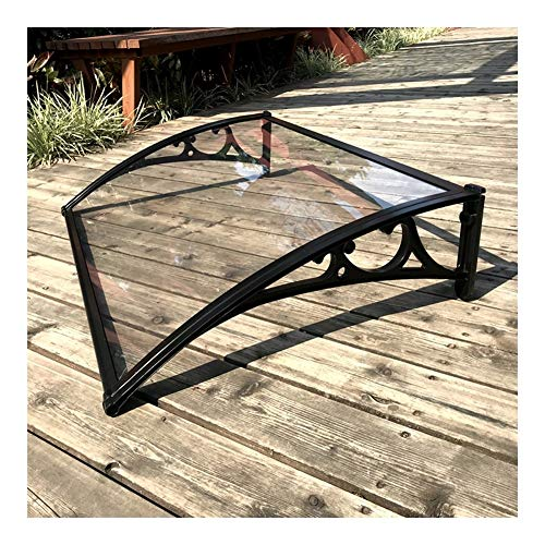 Marquesina for Puertas Y Ventanas Tejadillo De Protección Marquesina Toldo for Zonas Residenciales Y Comerciales Marquesina Puerta Exterior Aluminio (Color : A, Size : 60×100cm)
