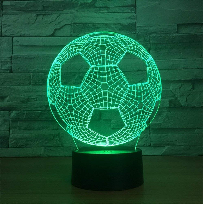 ZHJXQD 3D dekoratives Nachtlicht 3D Nachtlichter für Kinder Fuballspielzeug für Jungen Stereo mit 5 Farbverlauf Tischbeleuchtung Schlafzimmer Dekoration Geburtstag Emotionales Nachtlicht