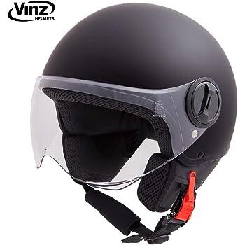 "55-56cm Moto Helmets/® H44 /""Vintage Bronze/"" /· Jet-Helm /· Motorrad-Helm Roller-Helm Scooter-Helm Bobber Mofa-Helm Chopper Retro Cruiser Vintage Pilot Biker /· ECE Visier Schnellverschluss Tasche S"