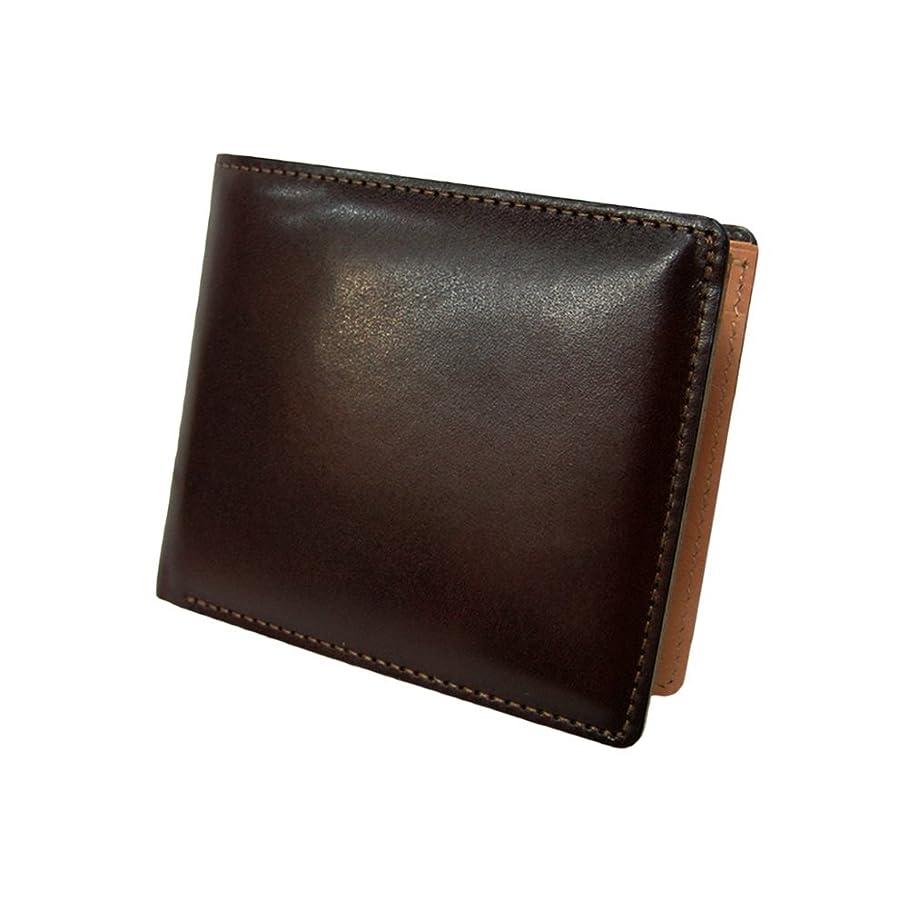 バング気になる電子レンジ[マトゥーリ]Maturi 日本製 国産 キャピタルレザー×ボンテッドレザー 二つ折財布 MR-054 BR