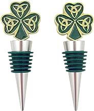 Irish Shamrock with Trinity Love Knot Bottle Stopper, Set of 2