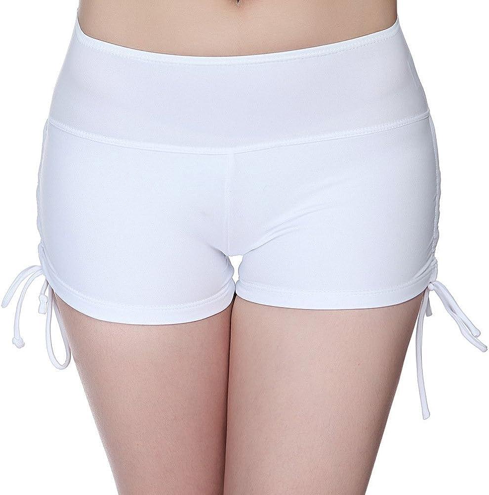 RACHAPE Women's Girls Swim Shorts Yoga Bikini Bottoms with Adjustable Ties