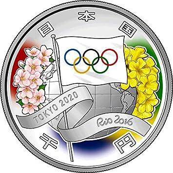 Power Coin Tokyo Olympic Games 2020 Olympische Spiele 1 Oz Silber Munze 1000 Yen Japan 2016 Amazon De Spielzeug