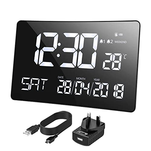 Office Digital Wall Clocks: Amazon co uk