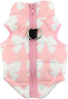 SMALLLEE_LUCKY_STORE Padded Dog Vest Jacket Coat with d-Ring