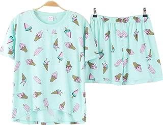 Big Girls Loose Summer Ice Cream Soft Short Pajamas Set Loungewear 8-16 Years