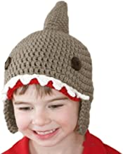 Gotd Baby Wool Knitted Shark Hats Baby Girls Hooded Caps Warmer