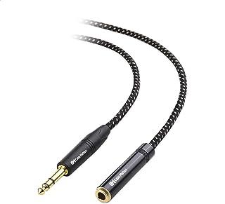 Cable Matters gevlochten 1/4 Inch verlengkabel (1/4 TRS naar 1/4 Inch male naar female kabel) - 3,6 m