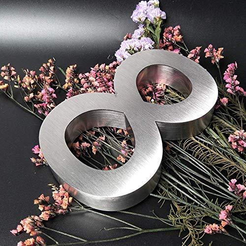 Número de Placa Casa Flotante 3D 5/6/7/10 /12 Pulgadas, Números 0-9 ABC,...
