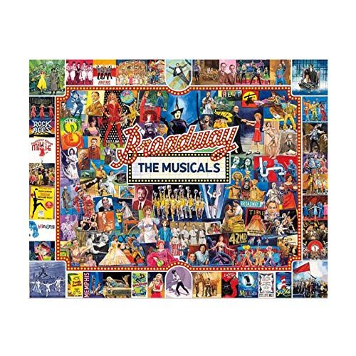 brightsen 1000 Pieces Jigsaw Puzzles For Adults, The Musicals Puzzle Games Stress Relief Puzzles Wall Decor For Adults Broad Way Wooden Jigsaw Puzzles