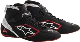 Alpinestars 2712018-123-10 Tech 1-K Shoes, Black/White/Red, Size 10