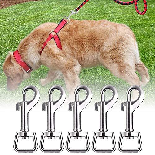 WLKK Schwenkbarer Karabinerhaken aus quadratischer Zinklegierung, Universal-Haustierhaken-Hundeschnalle