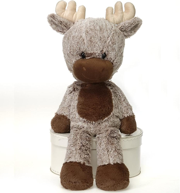 Fiesta Toys Fuzzy Folk  Sitting Moose Plush Stuffed Animal Toy  16 Inches