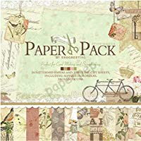"""Eno Greeting Paper Pep Pattern Paper Book 12"""" X 12"""" Afternoon"""