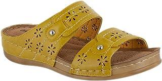 Easy Street Women's Cash Slide Sandal, Marigold, 7 medium US