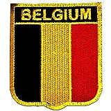 Belgien Flagge Fahne - Aufnäher, Bügelbild, Aufbügler, Applikationen, Patches, Flicken, zum aufbügeln, Größe: 6,4 x 7,3 cm