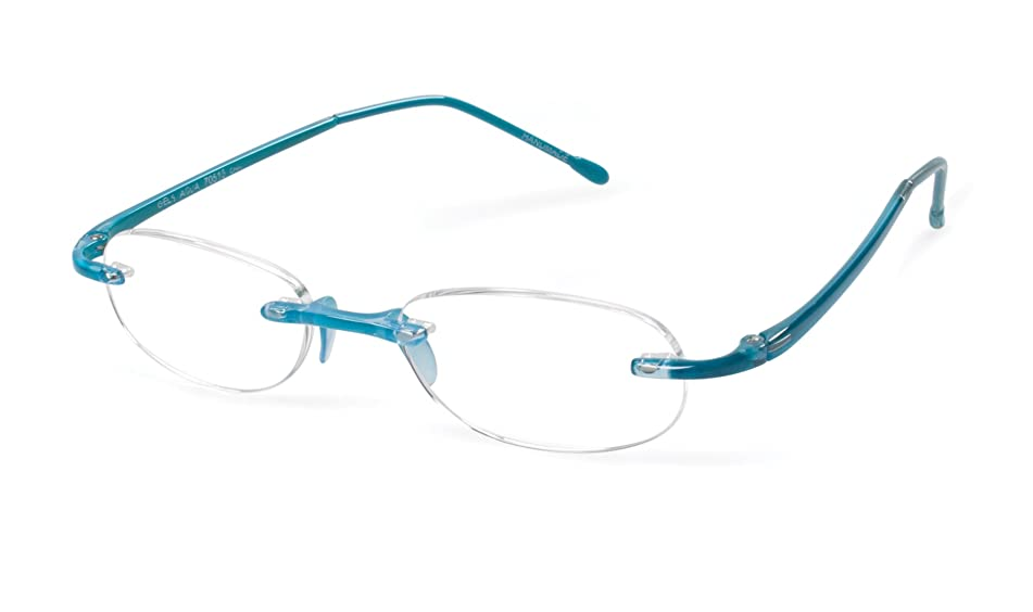 Gels - Lightweight Rimless Fashion Readers - The Original Reading Glasses for Men and Women - Aqua