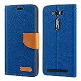 Asus Zenfone 2 Laser ZE500KL Case, Oxford Leather Wallet