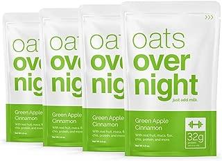 Oats Overnight - Green Apple Cinnamon - High Protein, Gluten Free - (3oz per pack) - (8 Pack)