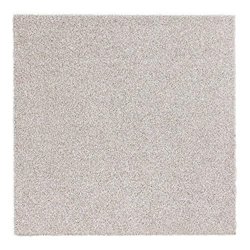 Teppichfliesen Intrigo 50x50cm selbstliegend Bodenbeläge Velours, Farben:Creme