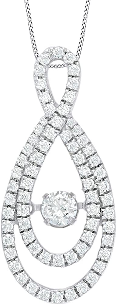 AFFY White Japan Maker New Challenge the lowest price of Japan Natural Dancing Neck Diamond Infinity Pendant