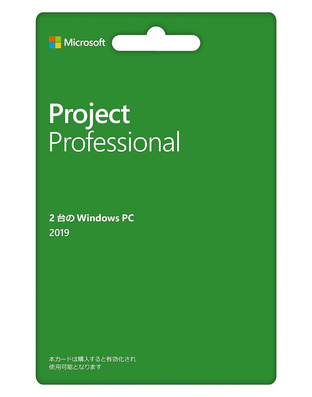 難破船インゲン獣Microsoft Project Professional 2019(最新 永続版) カード版 Windows10 PC2台