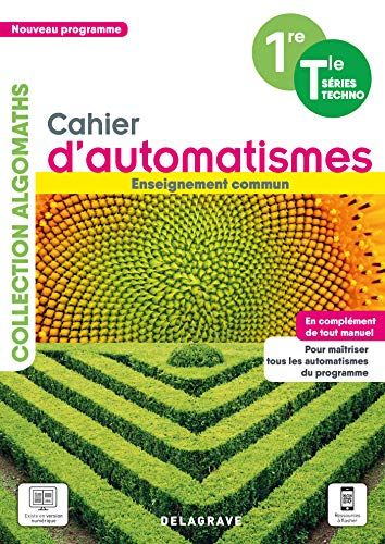 Mathématiques 1re Tle série techno: Cahier d