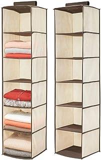 mDesign étagère Suspendue (Lot de 2) – Rangement à Suspendre Pratique en Tissus Fibre synthétique et 6 Compartiments – Meu...