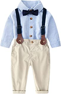 Baby & Little Boys' T Shirt and Suspender Shorts Set, 12 Months - 6 Years