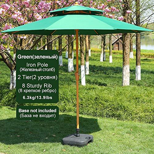 POWER BANKS Parasol Nervures en Fibre de UV Verre Toile Polyester Inclinable Sac de Terrasse Jardin Balcon Plage,Rice
