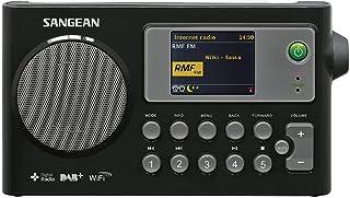 Sangean WFR 27C tragbares Internetradio (DAB+/UKW Tuner, WLAN, UPnP/DMR Music Streaming, Netz /Batteriebetrieb, Weckfunktion, Dual Alarm) schwarz