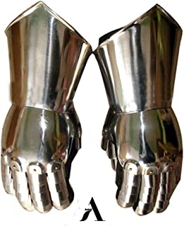 Armor Gauntlets Steel Gloves Armor Pair   Medieval Knight Costume  Warrior Metal Gauntlet