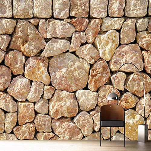 Papel pintado de pared 3D personalizado para paredes de dormitorio, decoración del hogar, patrón de piedra 3D, sala de estar, restaurante, telón de fondo, papel pintado de tela, 200 x 140 cm