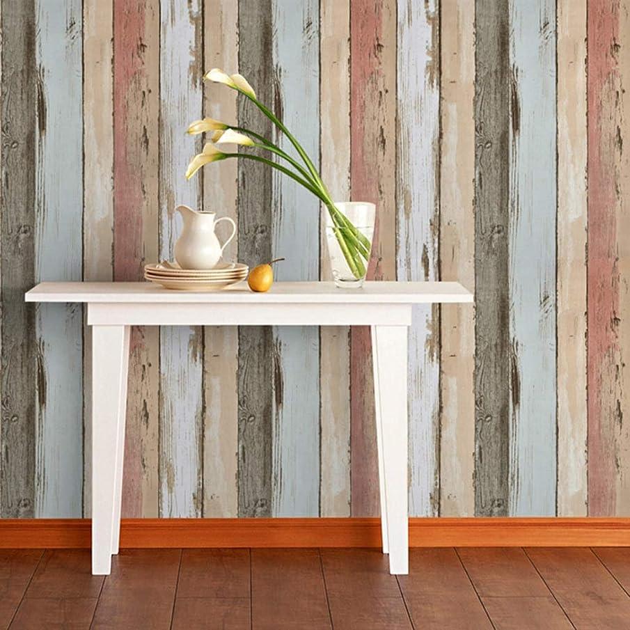 有益な予定劇的新しい家 木目調壁紙、衣料品店レストラン背景壁装飾壁紙シミュレーションリビングルームカフェ壁紙 背景の壁の装飾 (Color : A)