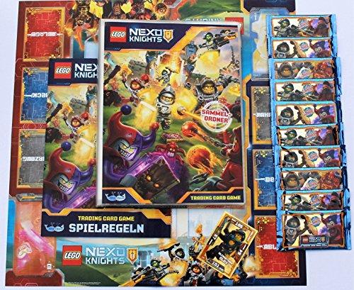 Lego Nexo Knights Sammelkarten - Sammelmappe + 10 Booster + Gold-Karte Ultimativer Clay