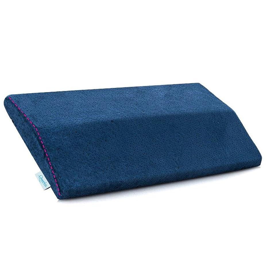 排泄するエミュレートするチョコレート腰枕 QUETA 低反発腰枕 反り腰 平背 足のむくみ 安眠枕 体圧分散 足枕 膝枕 足腰枕 洗える
