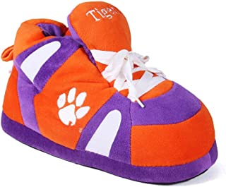 CLE01-2 - Clemson Tigers - Medium - Happy Feet Men's and Womens NCAA Slippers