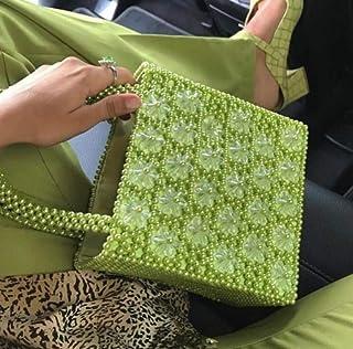 LIMING Six-petal woven heart-shaped pearl bag with niche design heavy metal shoulder bag