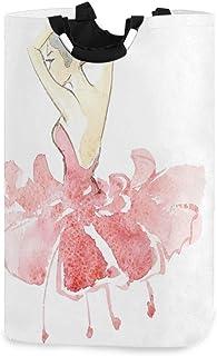 CaTaKu Panier à linge pour danseuse de ballerine - Grande boîte de rangement - Étanche - Facile à transporter - 31 x 28 x ...
