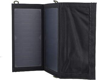 PET Laminated Panel & 600D PVC Plastic Waterproof Fabric Dual USB Ports 5V USB Solar Panel Charger Foldable for Electronics