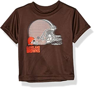 NFL Cleveland Browns Boys Short Sleeve Solid Logo Tee Shirt, Team Color, 3T