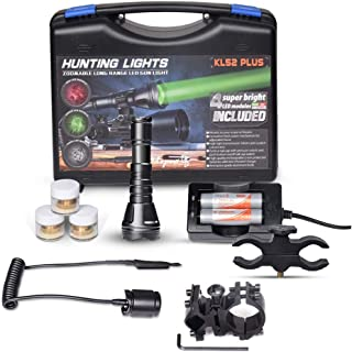 Odepro KL52Plus Zoomable Hunting Flashlight with Red...