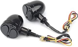 Bullet LED Motorcycle Turn Signal Indicator Stop Brake Tail Running Light Lamp For Sporster Chopper Bobber Universal 10mm