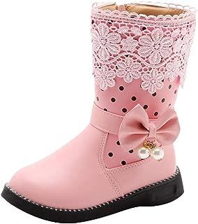Girl's Knee High Flat Boots Lace Bowknot Side Zipper Winter Princess Boots Toddler/Little Kid/Big Kid