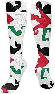 WlyFK, Calcetines de compresión para el día de San Patricio, para hombres y mujeres, clásicos y divertidos calcetines de compresión para botas, suaves calcetines de tela de poliéster