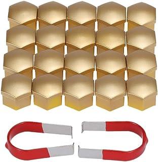 L Yune, Bolzen Satz von 20 Stück Universal 17mm Chrom Kunststoff Auto Radmutter Abdeckungen Bolt Caps Autozubehör Car Styling Screw Cap Bolt (Color : Gold)