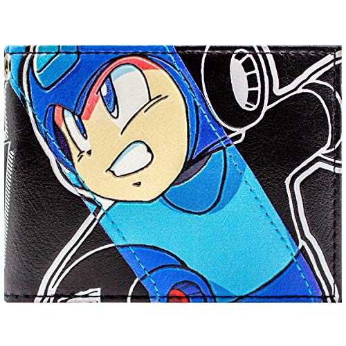 Mega Man Retro NES Spiel Robot Hero Blau Portemonnaie Geldbörse