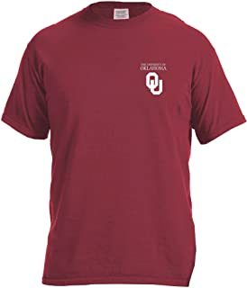 Image One Adult Unisex's NCAA Simple Circle Lines Short Sleeve Comfort Color Tee